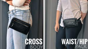 RFID blocking cross-body or hip pouch