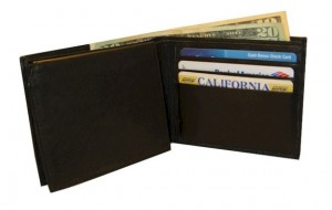 Classic Men's Leather Wallet with embedded RFID blocking technology