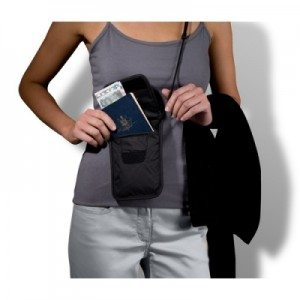 Underclothing security neck pouch.