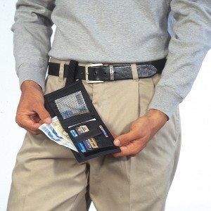 Belt money belt loop wallet for travel