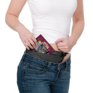 Breathable and flat money belt