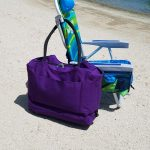 Locking Anti-Theft Travel Tote With Insulated Cooler Compartment
