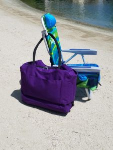 Locking Anti-Theft Travel Tote With Insulated Cooler Compartment, keep valuables safe while at the beach