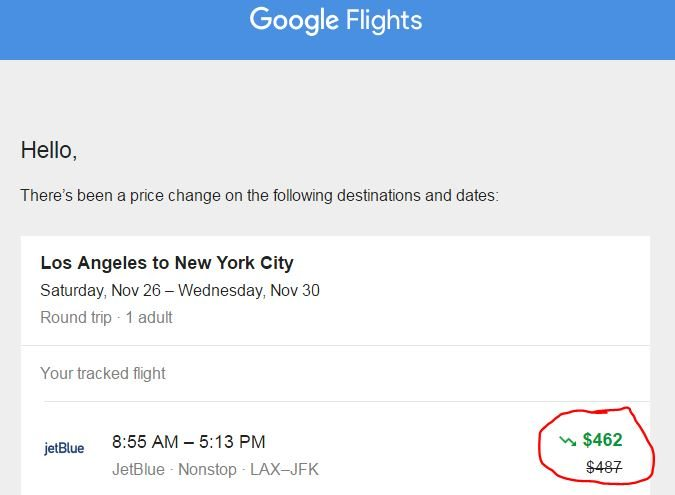 google-flight-price-alert