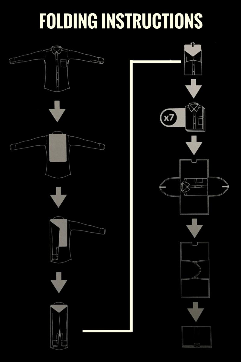 folding instructions, shirt folder,