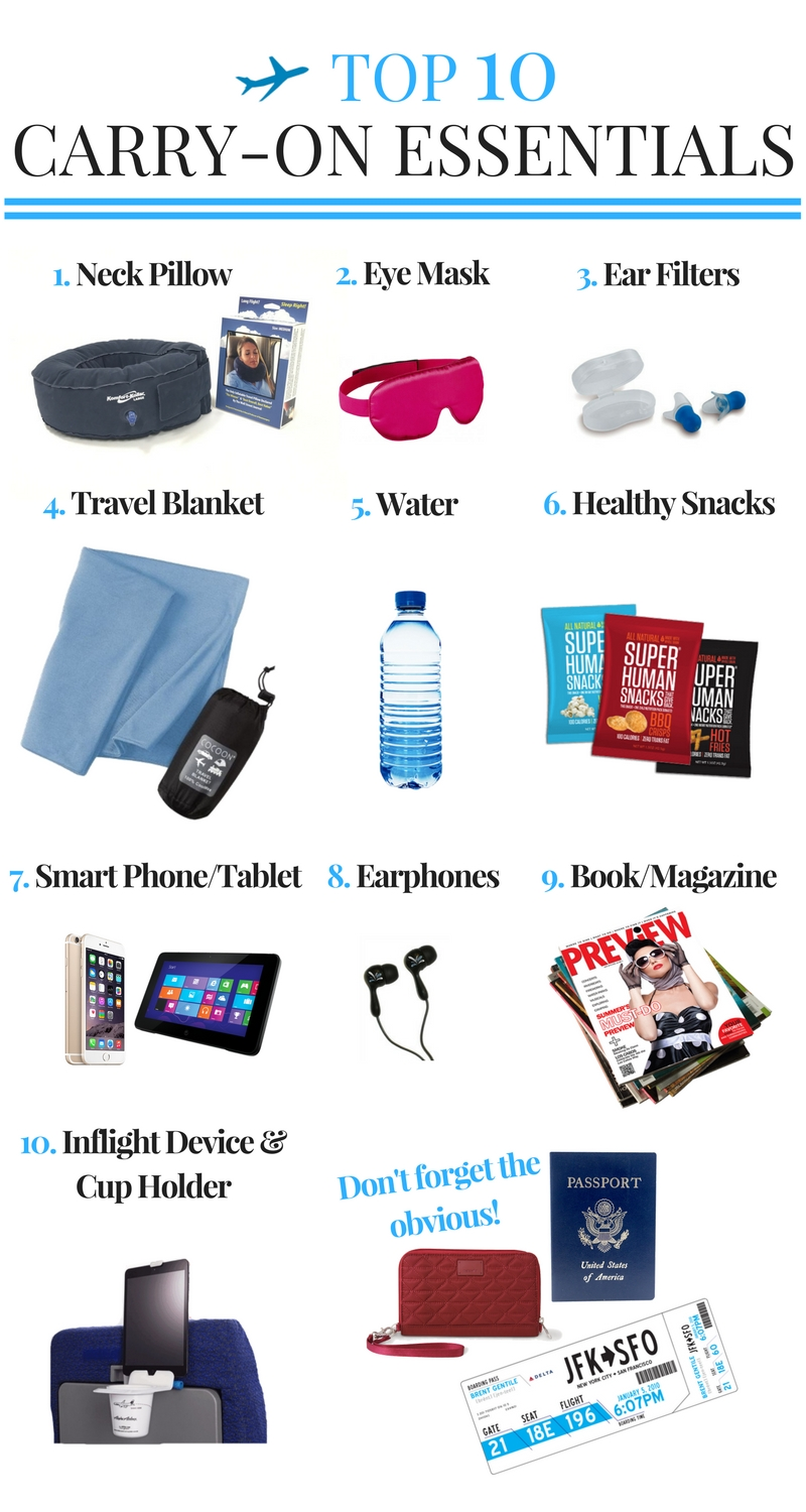 carry-on, top 10, travel essentials, travel accessories