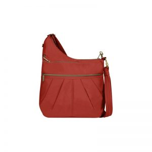 Anti-Theft Signature 3 Compartment Cross Body Bag Prevents Pickpocketing