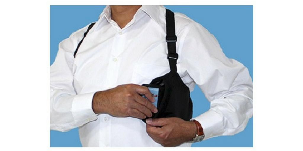 RFID Blocking Hidden Travel Pocket Prevents Pickpocketing