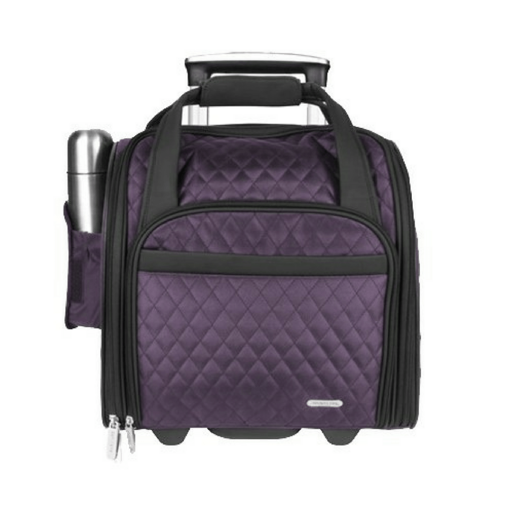 Wheeled Underseat Carry-On with Backup Bag for Smart Travel Luggage