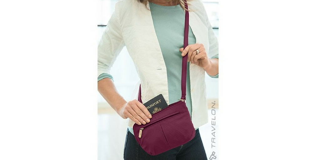 Anti-Theft Classic Light Convertible Crossbody and Waist Pack for Frequent Flyers
