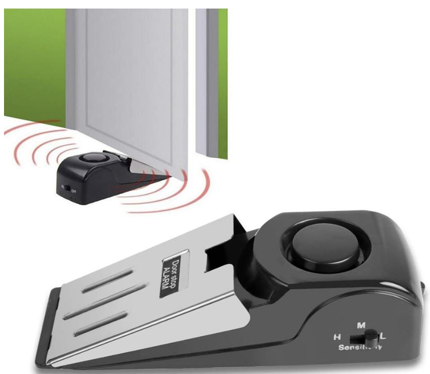 portable door stop and alarm, Portable Door Lock for Travel
