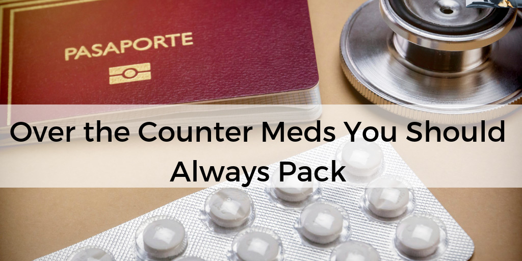 medicines you should pack