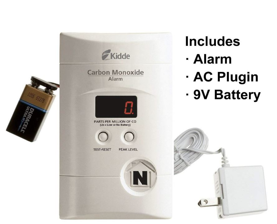 Carbon monoxide detector portable travel