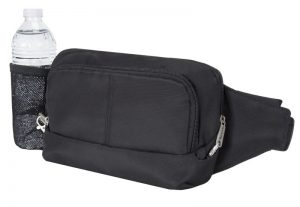 anti theft waist pack with water bottle holder