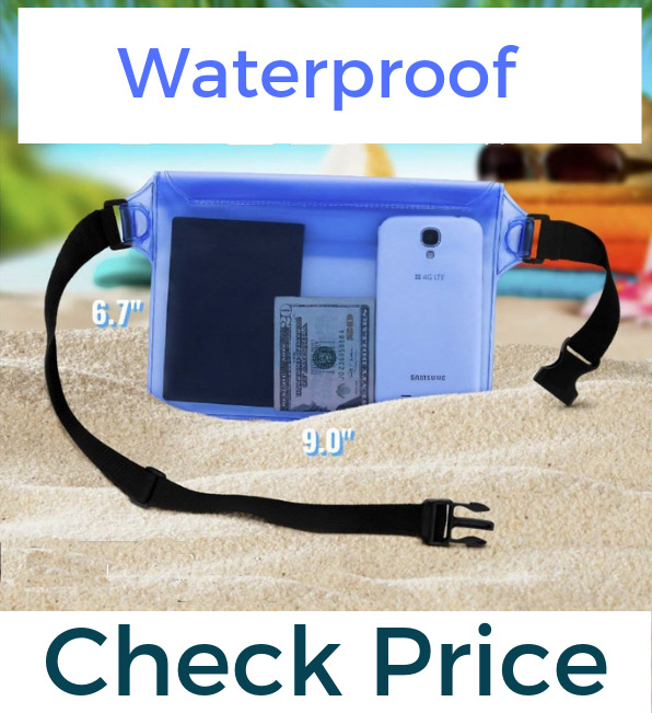 Waterprof waist pack money belt