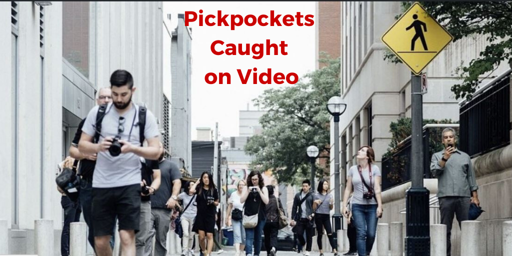 Pickpockets caught on video,how to spot a pickpocket