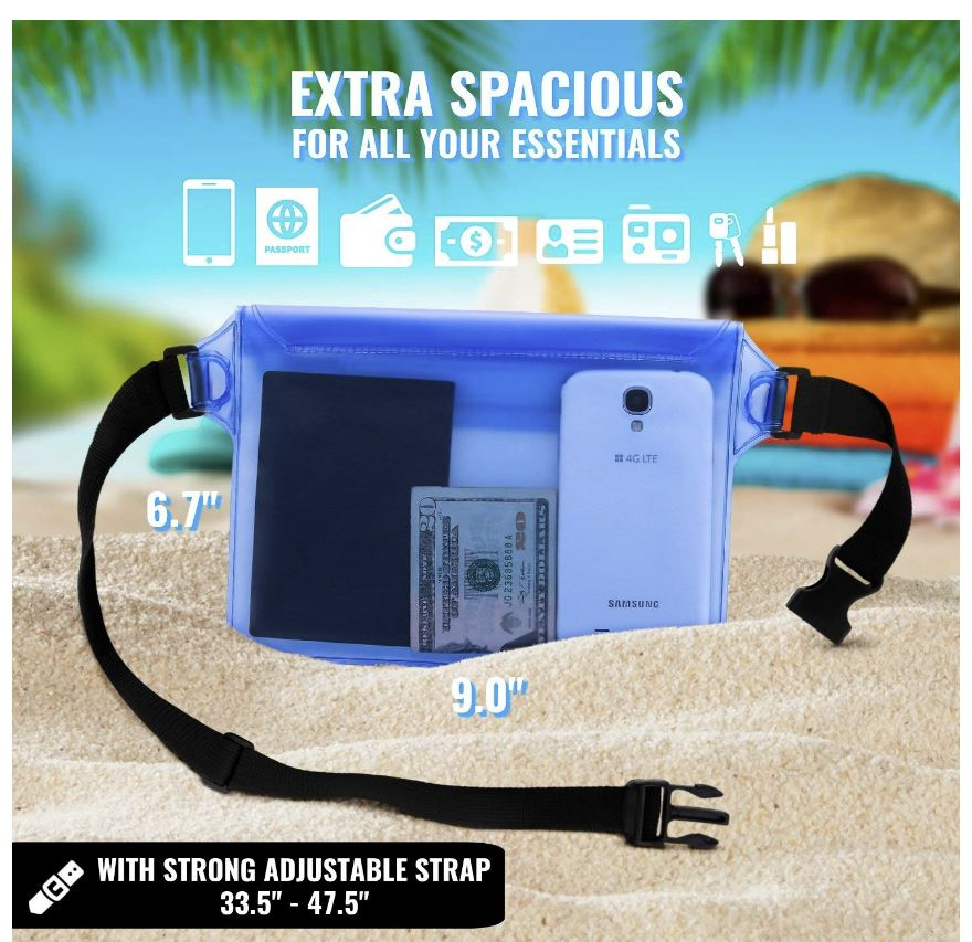 waterproof waistpack guard valuables at the beach and pool