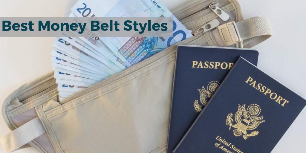 Pack of 2 Cloth Waist Bags Travel Pouch Hidden Wallet Passport Money Waist Belt Bag Slim Secret Security Useful Travel Bags Chest Packs