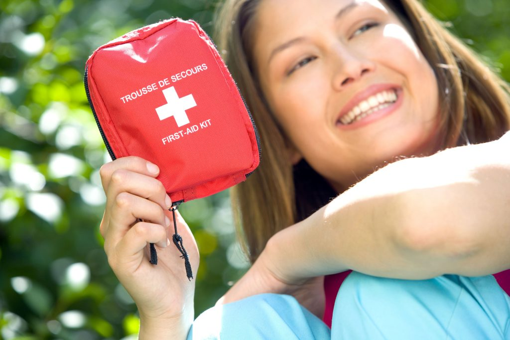 First Aid kit for medical emergencies