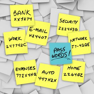 Passwords Written on Sticky Notes,Don't keep it in your wallet