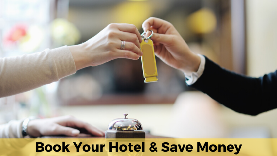 Save money by booking your own hotel